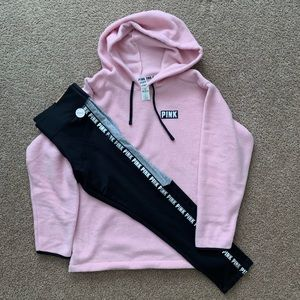 NWT VS PINK FLEECE HOODIE/COZY LEGGING
